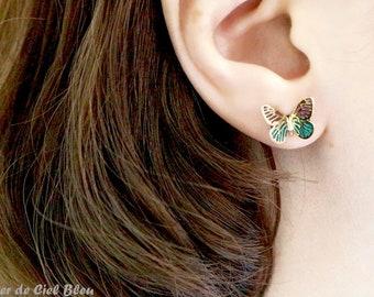 Butterfly Earrings, Butterfly Stud Earrings, Gold Butterfly Earrings, Purple Butterfly Earrings, Blue Butterfly Earrings, Butterfly Jewelry