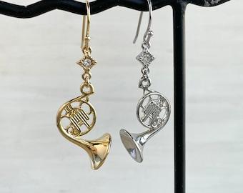 French Horn Earrings  all  Musician will love
