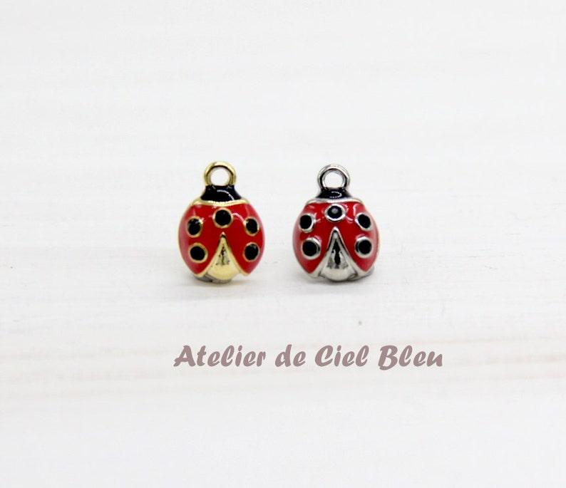 59f0077b0 Ladybug Charm Tiny Ladybug Charm Gold Plated Ladybug Charm | Etsy