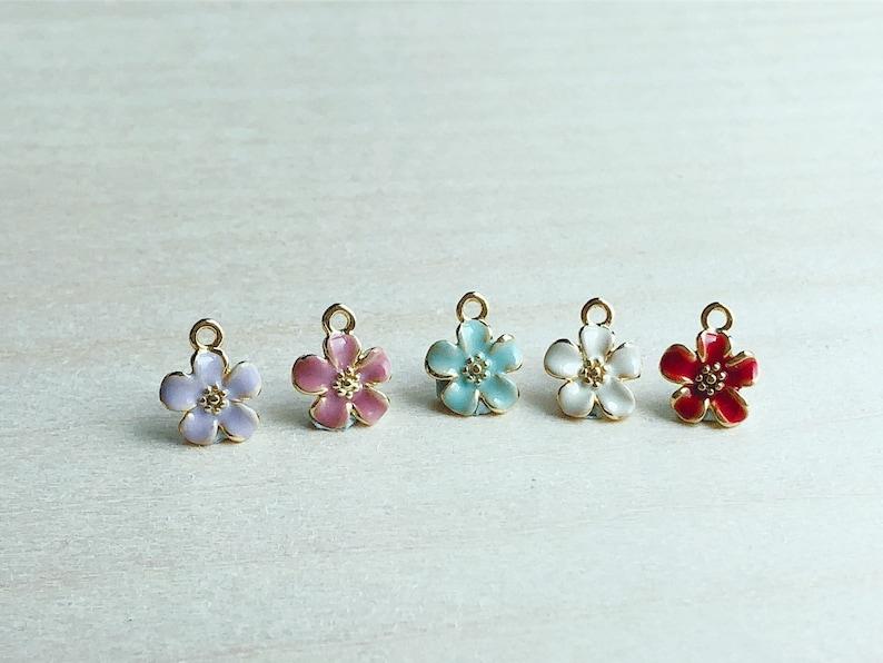 Choose Your Own Flower Tiny Enamel Flower Budgie Earrings Tiny Gold Plated Green /& Yellow Enamel Budgies Bird Jewelry Bird Earrings