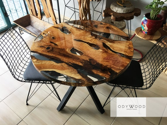 online store d77e8 4750b Venus Round Epoxy Resin Kitchen Dining Table