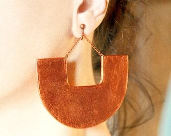 Boho earrings Clip earring Bold earring Clip on dangles Chunky big dangle African jewelry Boho jewelry Screw back earrings Statement jewelry