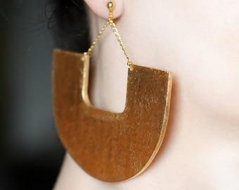Screw on earrings Clip on earrings African jewelry Gold clip on Dangle earrings Ethnic big earrings Chunky earrings Screw back earrings Big
