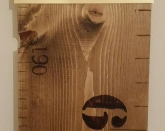 Personalised Children's Wooden Ruler Growth/ Height Chart