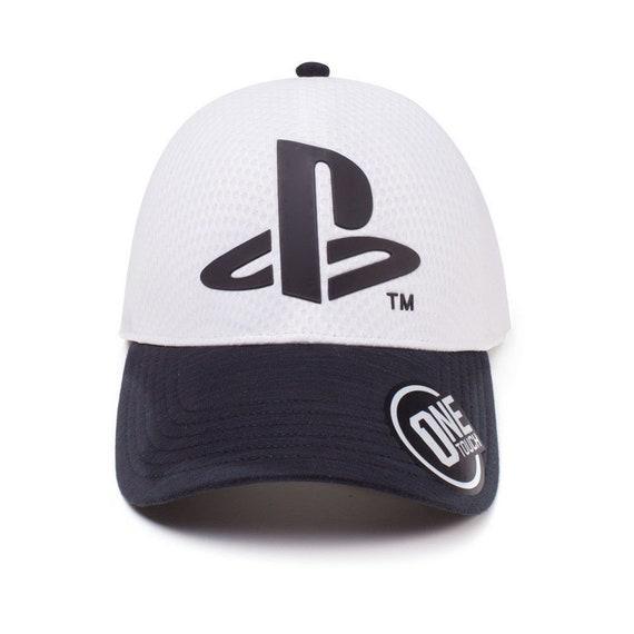 27d39a774f4 SONY PLAYSTATION Original Logo Baseball Cap Snapback Hat Curved Bill