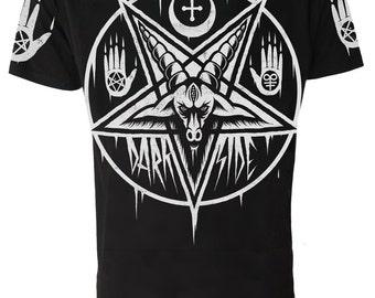 PENTAGRAM BAPHOMET T Shirt Occult Satanic Goth Emo