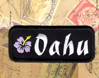 Oahu Patch Travel Oahu Hawaii Iron to Sew on Patch Badge