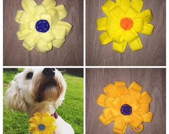 Felt Flowers collar accessory - available in range of colours.