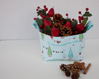 Holiday Gift Bucket PDF pattern, small bag pattern, gift bag pattern, pdf pattern
