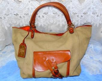 a3ad0f5250 ... czech vintage ralph lauren tote shoulderbag handbag purse 5ca54 c7549