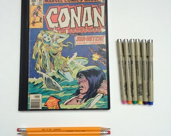 SOLD - Comic Book Composition - Creative Writing Journal/Notebook - Vintage Conan the Barbarian (1979)