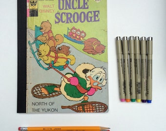 SOLD - Comic Book Composition - Creative Writing Journal/Notebook - Vintage Uncle Scrooge (1975)