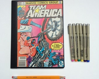 SOLD - Comic Book Composition - Creative Writing Journal/Notebook - Vintage Team America (1982)