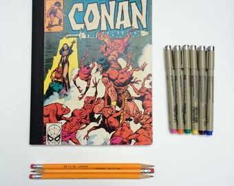 SOLD - Comic Book Composition - Creative Writing Journal/Notebook - Vintage Conan the Barbarian (1981)