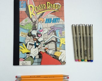 SOLD - Comic Book Composition - Creative Writing Journal/Notebook - Vintage Roger Rabbit (1990)