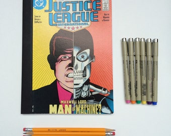 SOLD - Comic Book Composition - Creative Writing Journal/Notebook - Vintage Justice League (1988)