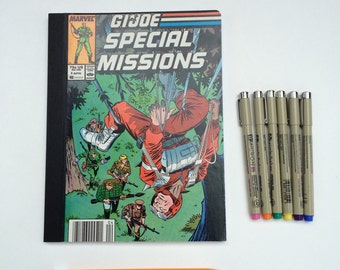 SOLD - Comic Book Composition - Creative Writing Journal/Notebook - Vintage G.I. Joe (1987)