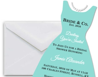 Tiffany's Bridal Shower Invite - Custom