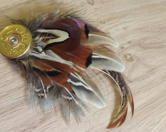 2f2326bd Feather hat pin , feather brooch , pheasant feathers , mens lapel pin ,  real feathers