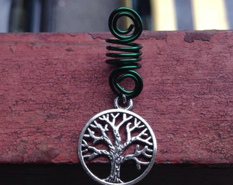 Silver Trombone Spiral Dread Lock Coil Bead