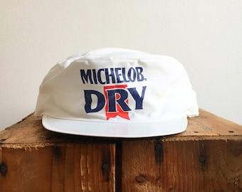 80s Painters Hat   Vintage Beer Hat 80s Vintage Michelob Dry Paper Painters  Hat   80s Biker Painter Hat 4c38a2199b0