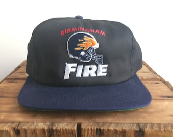5c8a30e8872395 90s Snapback Hat / Birmingham Fire World Football League / Alabama 90s  Vintage Snapback hat / NFL Europe Hat / American Needle