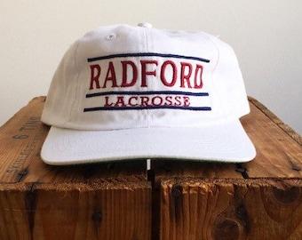 02a46196be4 90s Snapback   Radford Snapback - 90s white BAR college snapback The Game    Manhattan Lacrosse 90s Snapback