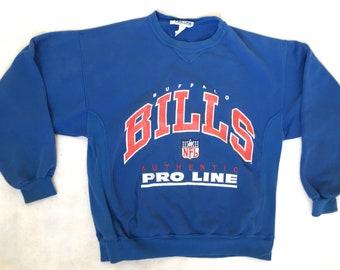 90s Sweatshirt Vintage Buffalo Bills Sweatshirt   Vintage Pro Line Crewneck  Sweatshirt 90s Vintage Buffalo Bills Crewneck Sweatshirt Size Me 136e7e83f