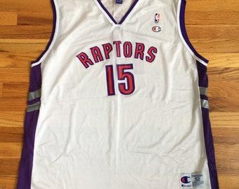 35d759b4c68 90s Vince Carter Raptors Champion Jersey / Vintage Vince Carter Raptors  Jersey XXL size 52 / 90s vintage Toronto Raptors Jersey white champi