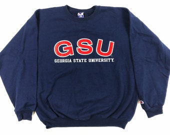 90s Champion Sweatshirt - Georgia State University   Vintage Champion  Crewneck - Georgia State University Sweatshirt Size Large 9e28646bb915