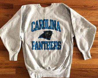 90s Carolina Panthers Sweatshirt   Vintage Reverse Weave Crewneck Sweatshirt    Carolina Panthers Crewneck Heavy Gray Champion Sweatshirt a097d49e9