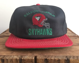 52cc1ff89b822f 90s Snapback Hat / World Football League Skyhawks Raleigh Durham Charlotte  90s Vintage Snapback hat / NFL Europe Hat / American Needle