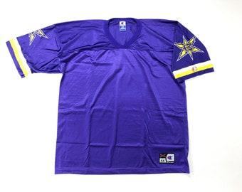 cc2ce535163 Vintage XFL Jersey / Vintage Champion Jersey Blanks / 90s XFL Birmingham  Bolts Jersey / Vintage XFL Football Jersey / Blank Jersey Champion