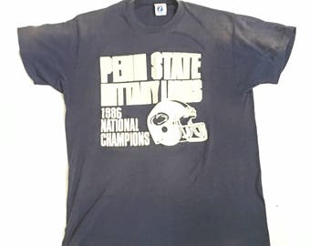 e74450871580c Vintage Penn State T-Shirt   1986 National Champions T-Shirt Penn State  University Football   Vintage Distressed Thinning T-shirt PSU Logo 7