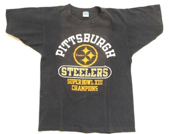 70s T Shirt   Pittsburgh Steelers T Shirt   Vintage Steelers Super Bowl T  Shirt   70s Champion Blue Bar T Shirt   Steelers 1978 Super Bowl 3c5799928
