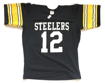 67d995af3 80s Deadstock Football Jersey   Vintage Pittsburgh Steelers Jersey   Vintage  Terry Bradshaw Jersey - 80s Deadstock Rawlings Football Jersey