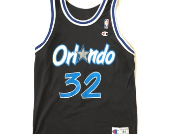 96285208f Vintage Shaq Orlando Magic Jersey 90s Vintage Champion Basketball Jersey  size 44 Size Large   Vintage Shaquille Oneal Jersey   Vintage Orlan