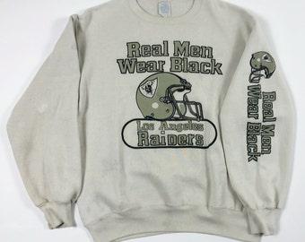 8b9ba17fde Los Angeles Raiders 90s Sweatshirt  Distressed Vintage Sweatshirt 90s LA  Raiders NWA Sweatshirt 90s Crewneck Sweatshirt size Large