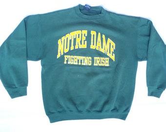 90d4b7b3 90s Notre Dame Sweatshirt / vintage 90s sweatshirt / University of Notre  Dame 90s crewneck sweatshirt / size XL Vintage Notre Dame Crewneck