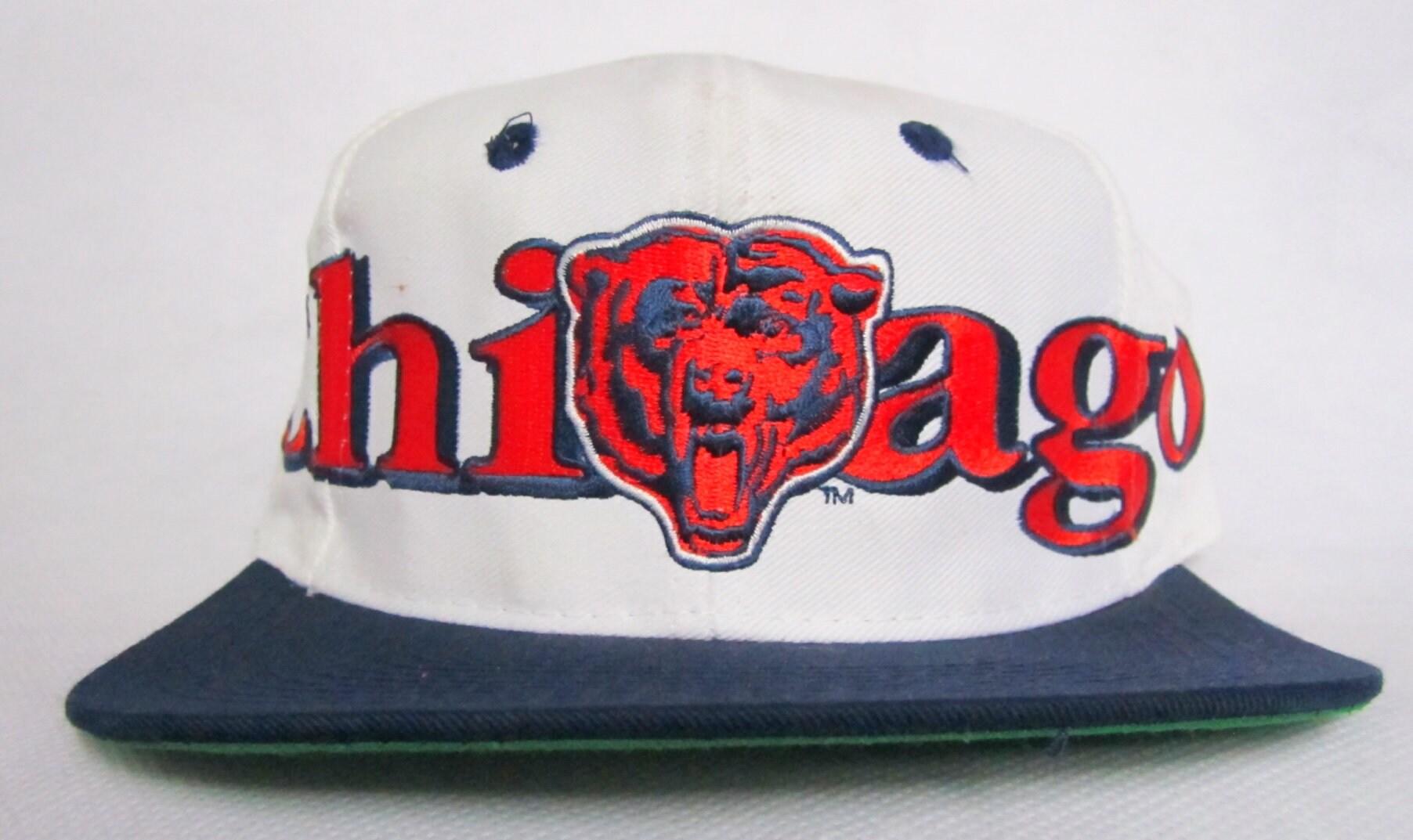 2b1a01a6c ... cheap 90s snapback chicago bears vintage bears snapback hat logo 7 wrap  script snapback 21a05 3ebe9