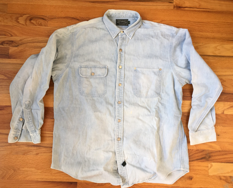 Vintage Polo Country Denim Shirt Ralph Lauren Polo Country RRL distressed Denim Shirt Polo Ralph Lauren Country RRL
