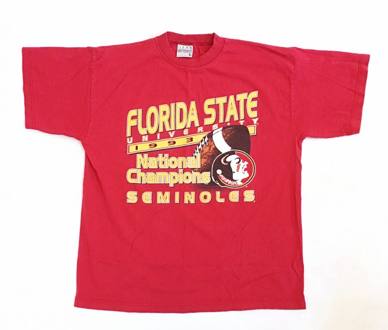 7a6c8b3aad5 90s Florida State T-shirt 1993 National Champions Vintage