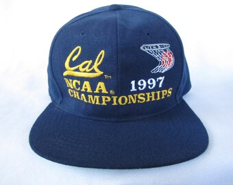 90s Snapback Cal Basketball - Sweet 16 March Madness Vintage Snapback - Cal Berkeley Cal Golden Bears Univ California