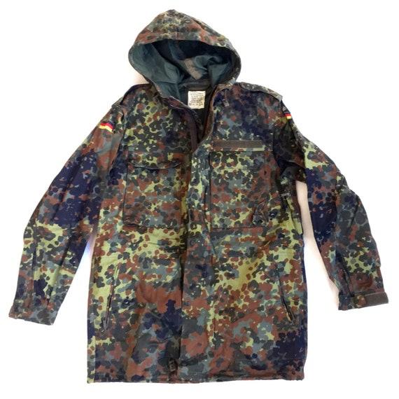 Camo Parka Jacket Hood / German Army Military Camo