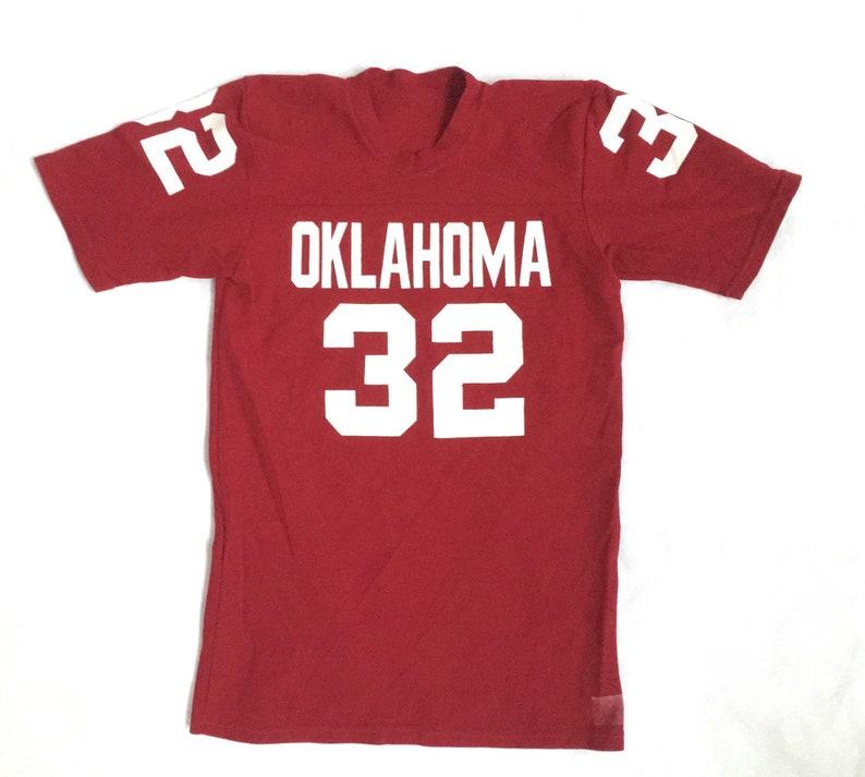buy popular 6f279 45a7b 80s Oklahoma Jersey / Vintage Oklahoma University Sooners Football Jersey /  80s vintage practice jersey Size Small