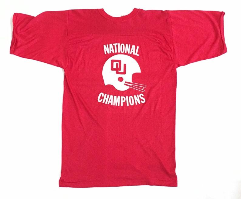 info for ec7a3 75b05 Oklahoma University Football Jersey - Vintage 70s Durene Football Jersey /  Oklahoma Sooners National Champions 1971 1974