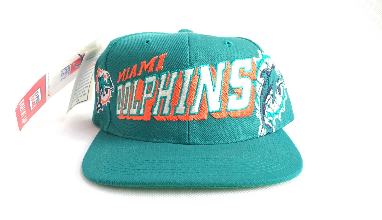 1a9fad9d23e9f 90s Snapback Miami Dolphins Sports Specialties Snapback Hat