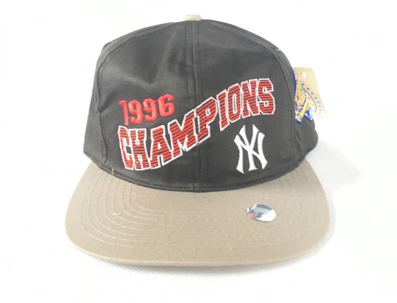 Vintage Yankees Snapback Hat   1996 World Series Champions    05b2bb9f5ca