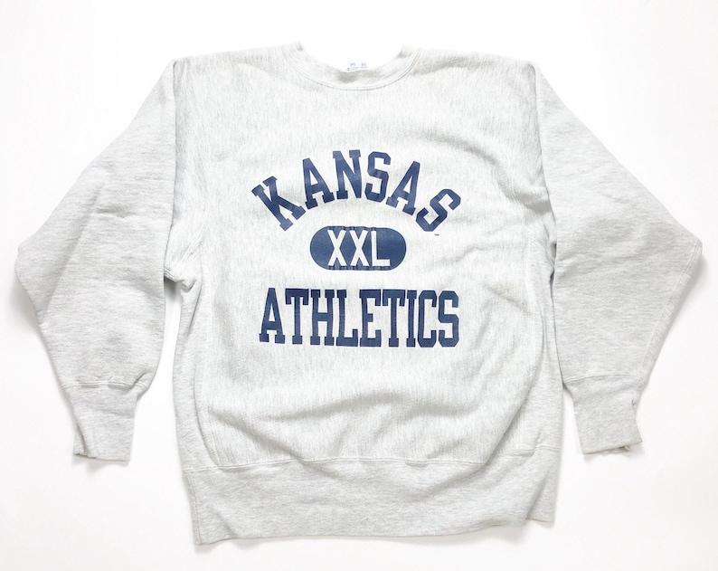 ac3e161a 90s Champion Reverse Weave Vintage Sweatshirt Vintage Kansas | Etsy