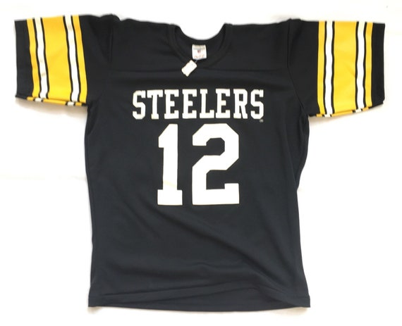 more photos 1bb7a 3dcb7 80s Deadstock Football Jersey / Vintage Pittsburgh Steelers Jersey /  Vintage Terry Bradshaw Jersey - 80s Deadstock Rawlings Football Jersey